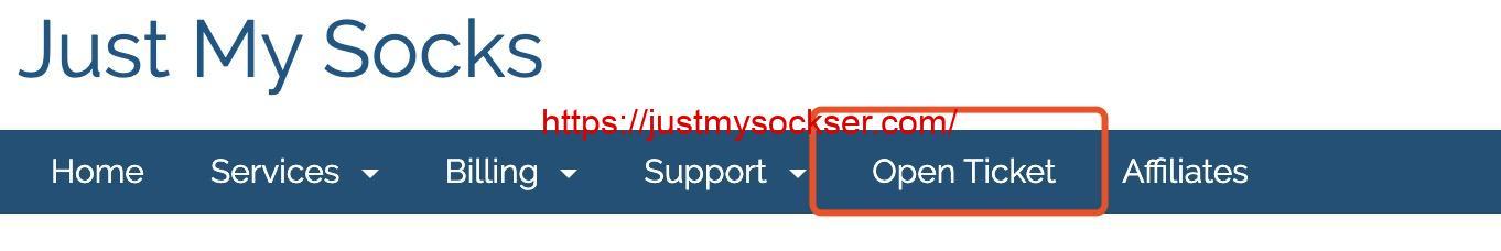 JustMySocks 创建工单