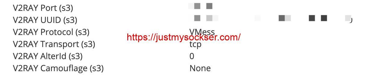 JustMySocks 引入 V2